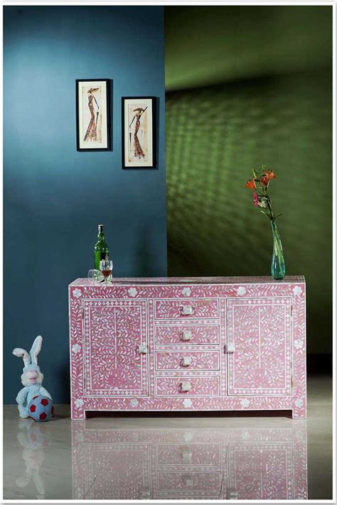 bone inlay furniture store shop pink mother  pearl inlay