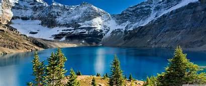 Nature Landscape Mountain Lake 1440 3440 Background