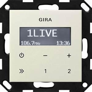 Gira Radio Bluetooth : gira 228401 unterputz radio rds cremewei gl nzend online kaufen im voltus elektro shop ~ Frokenaadalensverden.com Haus und Dekorationen