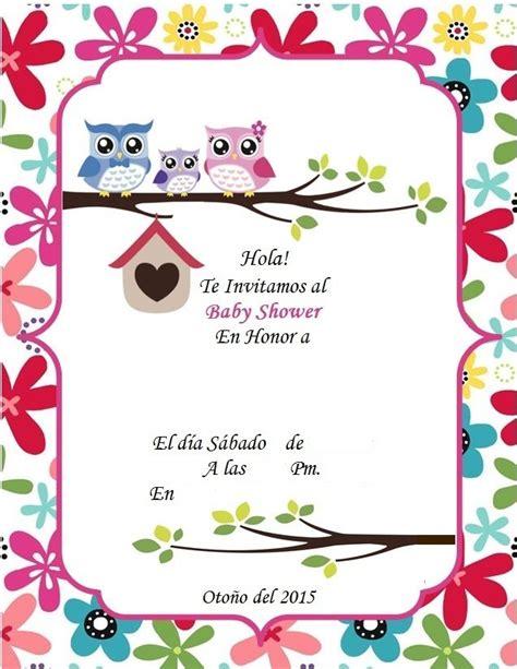 Invitacion Baby Shower Buhos Invitaciones Invitaciones