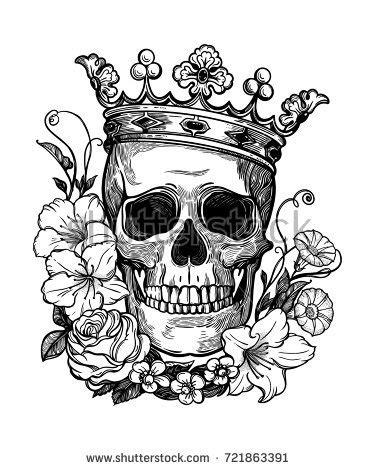 beautiful romantic skull crown elegant wreath stock vector  shutterstock