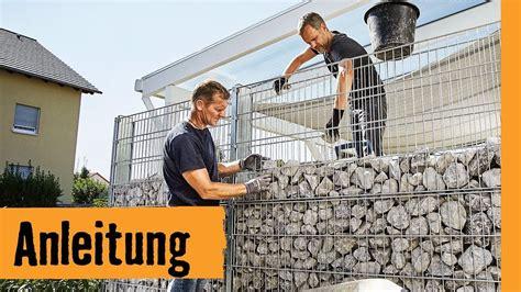 gabionen selber bauen gabione selber bauen hornbach meisterschmiede garten sichtschutz selber bauen