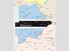 Abstract vector color map of Botswana country colored by