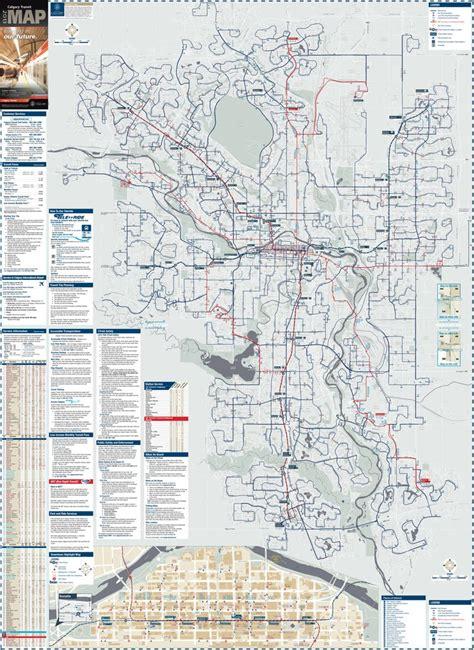 calgary transit system  street map maplets