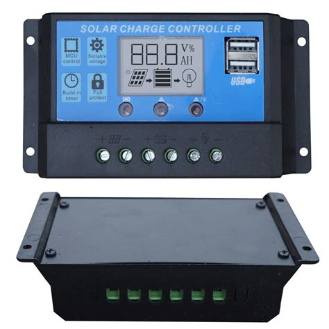 Lcd Solar Charge Controller Pwm Panel
