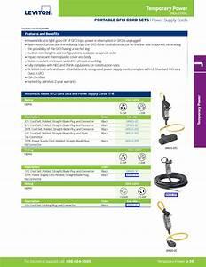 Gfa20 37e Gfci Cord Set Leviton 147948 Catalog