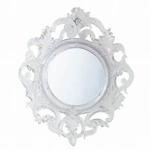 Miroir Blanc Baroque : miroir baroque translucide maisons du monde ~ Teatrodelosmanantiales.com Idées de Décoration