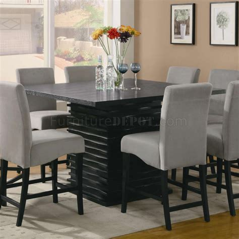 stanton counter height dining table  black coaster
