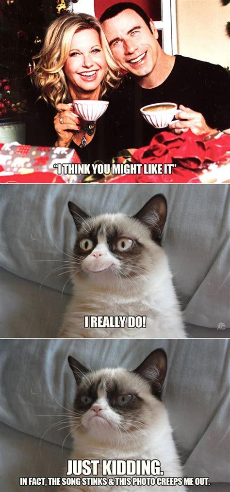 grumpy cat travolanewton john