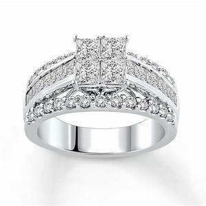 jared diamond engagement ring 2 1 2 ct tw princess cut With 2 in 1 wedding rings