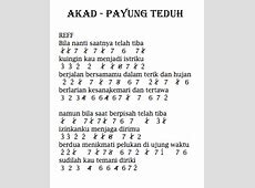 Lirik lagu bukti papel pintado not angka dan lirik lagu akad dari payung teduh not stopboris Gallery