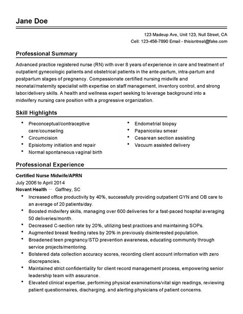 Maternity Ward Resume by Maternity Ward Sle Resume Skills Based Resume