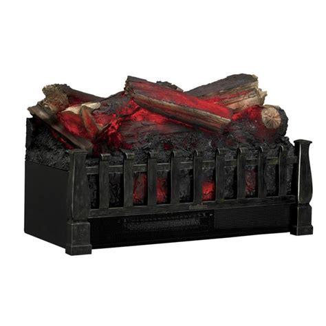 duraflame electric fireplace logs shop duraflame 20 5 in w 4600 btu brown electric fireplace