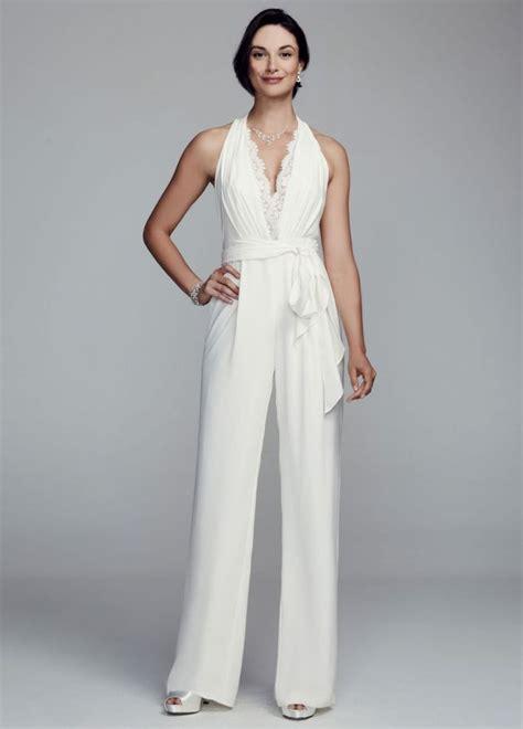 white jumpsuit for wedding 40 smokin 39 wedding dresses 500