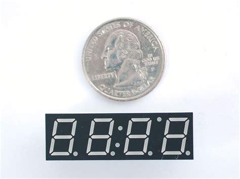 Green 7-segment Clock Display
