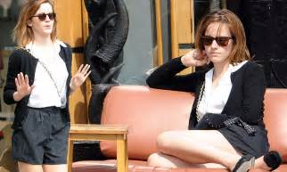 Emma Watson Goes Bare Legged She Makes The Most Out