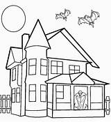 Coloring Haunted Pages Printable Drawing Spooky Inside Colouring Cool2bkids Sheets Bats Castle Houses Mansion Step Simple Interior Easy Halloween Getdrawings sketch template