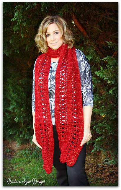 Crochet Jewel Scarf September Pattern Super Beatriceryandesigns