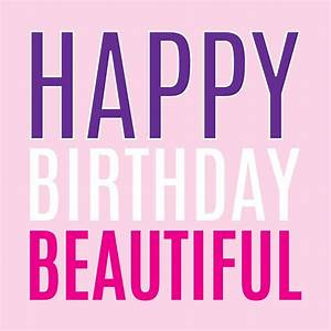 happy birthday 'beautiful' card by megan claire ...