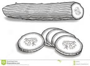 cucumber slice clipart black and white gurke vektor abbildung illustration gr 252 n betrieb