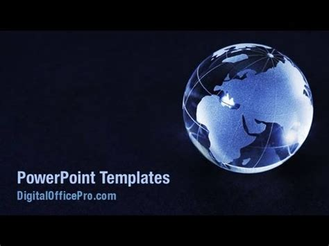 crystal world globe powerpoint template backgrounds