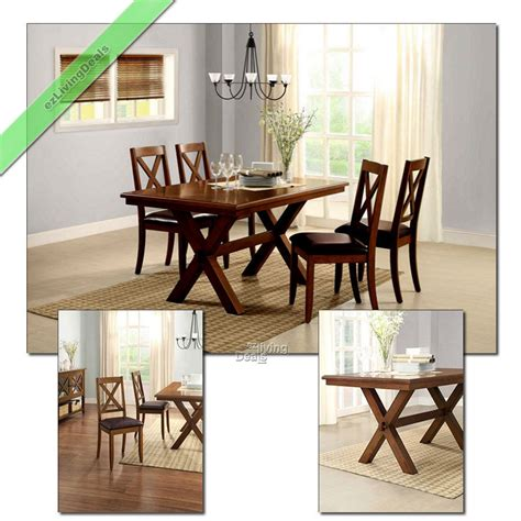 country kitchen tables sets 5 pc dining room set table chairs maddox crossing wood 6154