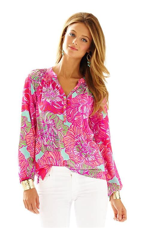 lilly pulitzer blouse 42 best images about 343 blusas de seda on