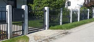 Metallzaun Mit Sichtschutz : gartenzaun holz metallpfosten ~ Sanjose-hotels-ca.com Haus und Dekorationen