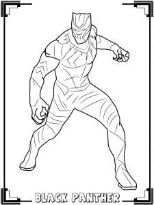 black panther  printable coloring pages  kids