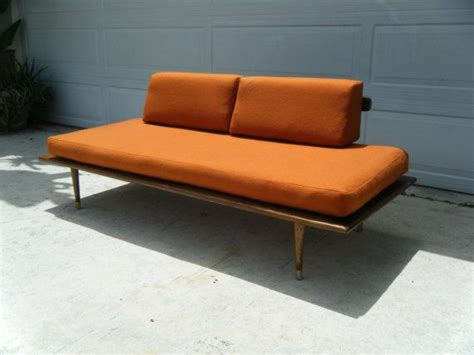 mid century danish modern platform couch day bed by