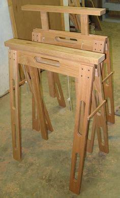 adjustable height folding sawhorses  standard door