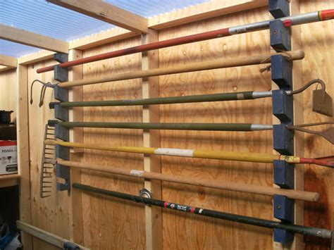 garden tool rack  steps  pictures