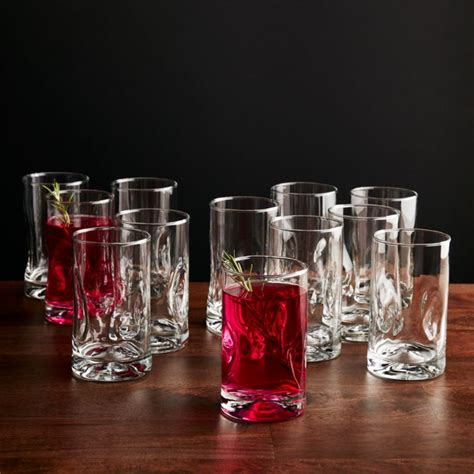 Impressions Juice Glasses, Set of 12 + Reviews | Crate and