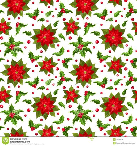 christmas seamless background  poinsettia  royalty