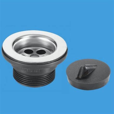 mcalpine stainless steel kitchen sink waste mm flange