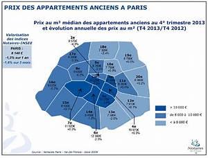 le marche immobilier a paris fin 2013 et debut 2014 With prix immobilier chambre des notaires