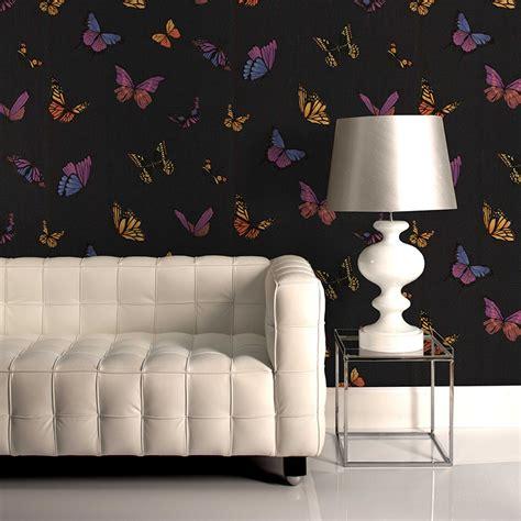 Graham & Brown Flutterby Black 52cm X 10m Wallpaper