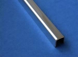 Edelstahl U Profil : glas einfassprofil u profil edelstahl bis l 1000mm von 8mm bis 12 52mm glas kaufen ~ Udekor.club Haus und Dekorationen