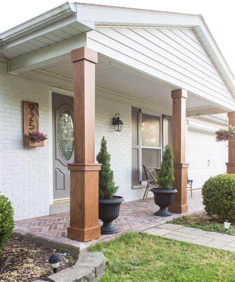 Decorative Front Porch Columns - diy craftsman style porch columns curb appeal