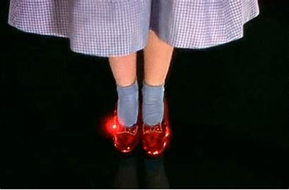 Slippers Ruby Wizard Oz Dorothy Gifs Gale