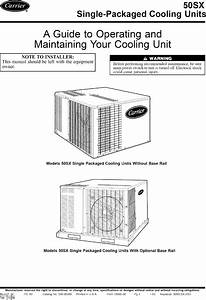 Carrier 50sx030300 User Manual Central Package Manuals And