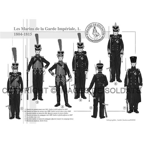 le bureau la garde les marins de la garde impériale 1804 1815