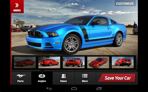 Modify Your Own Car by Customize Your 2013 Ford Mustang With Downloadable App