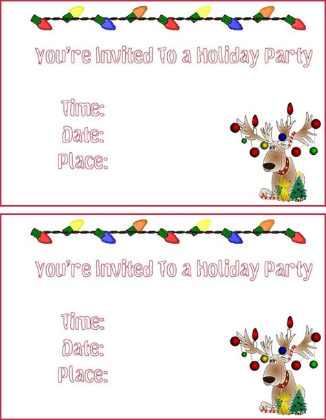 free holiday party invitation templates invitation templates free template resume builder