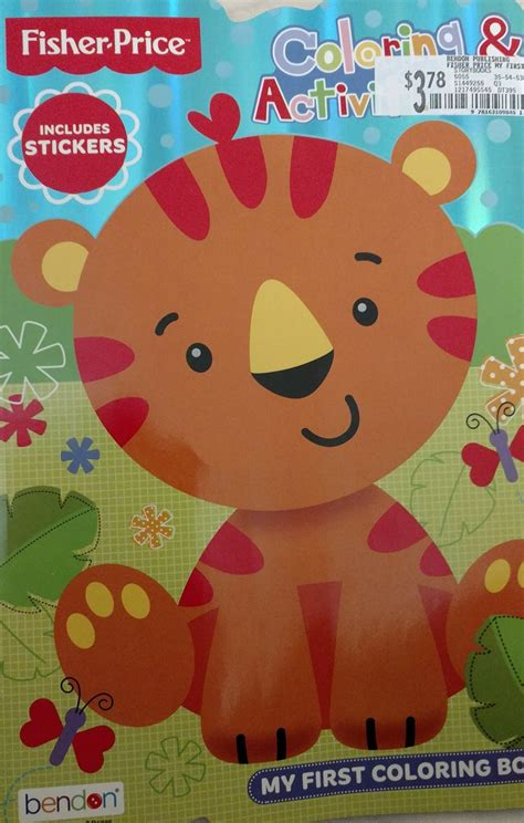 fisher price   coloring activity book includes