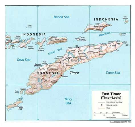 political map  east timor east timor political map