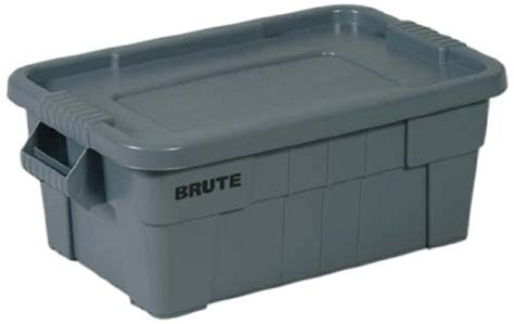 Rubbermaid Commercial BRUTE Tote Storage Bin with Lid, 14