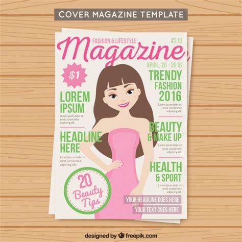 mag de gratis cover fashion magazine template vector free