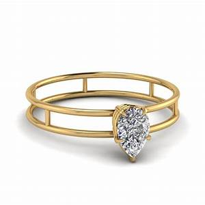 wedding rings pear shaped solitaire engagement ring With wedding bands for pear shaped engagement rings