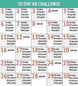 30 Day Ab Challenge #byebyebelly - I Love Health